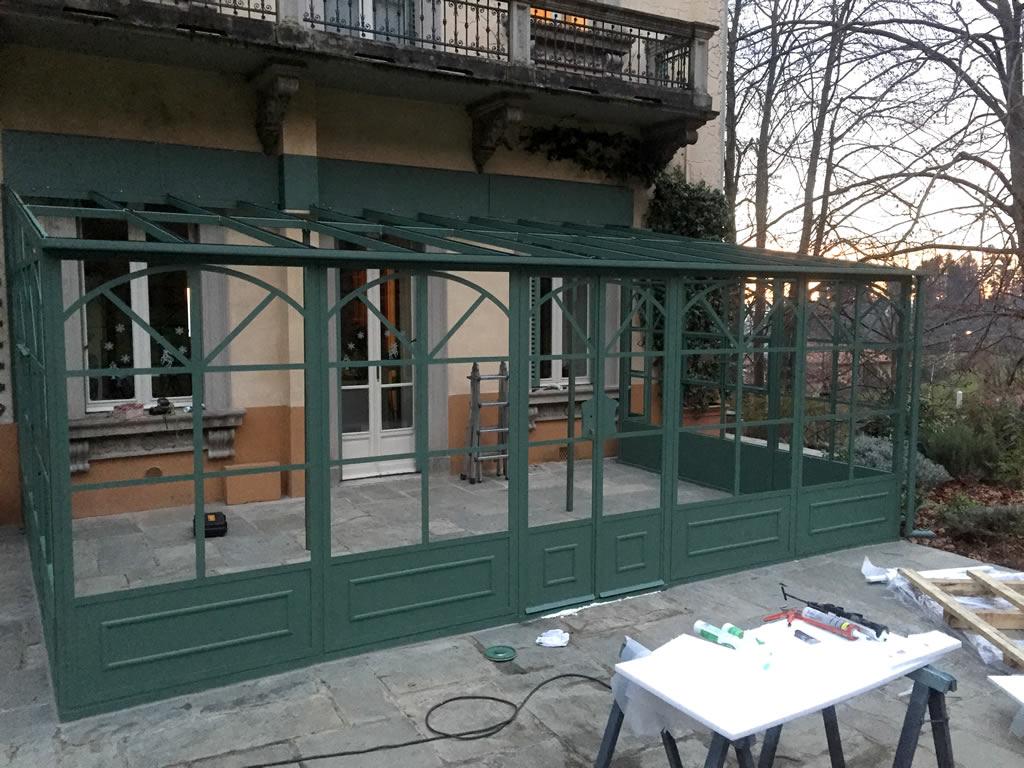Giardini d'inverno in ferro e vetro Fabbro Andrea Ramella Bon