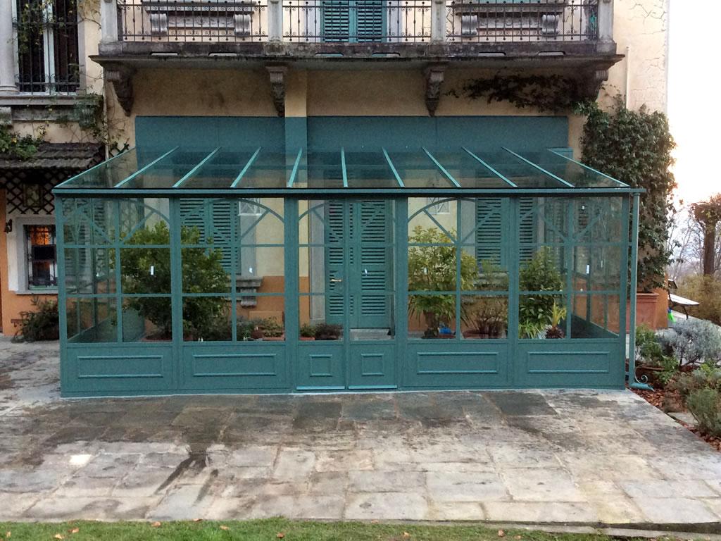 Giardini d'inverno in ferro e vetro